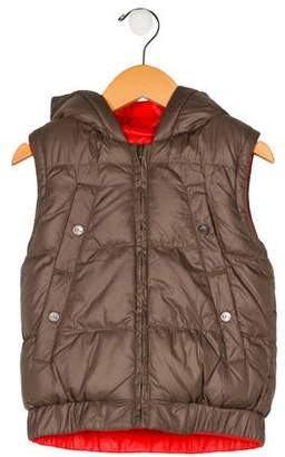 Little Marc Jacobs Boys' Reversible Hooded Vest