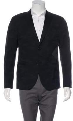 Neil Barrett Wool Camouflage Tuxedo Jacket black Wool Camouflage Tuxedo Jacket