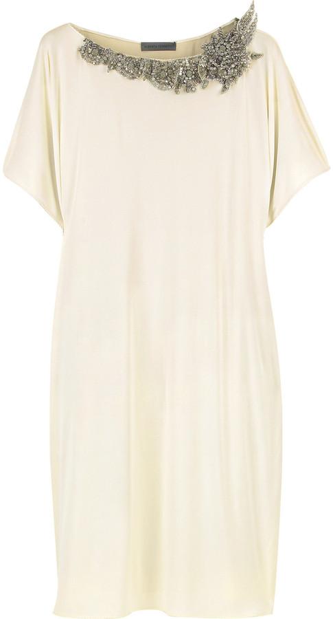 Alberta Ferretti Jewel embellished tunic dress