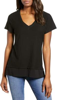 Vince Camuto Layered Look V-Neck Tee