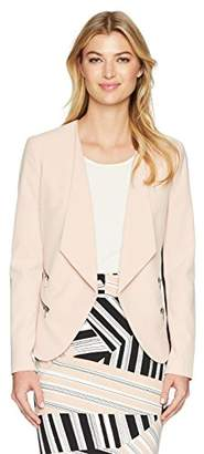 Nine West Women's Bi Stretch Kiss Front Jacket