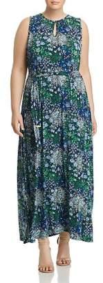 MICHAEL Michael Kors Paisley Print Belted Maxi Dress