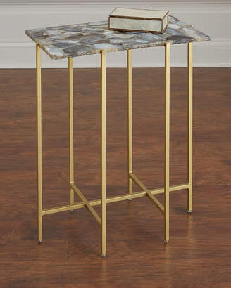 Interlude Home Blinn Agate Side Table, Gray