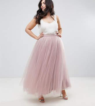 Little Mistress Plus Maxi Tulle Prom Skirt