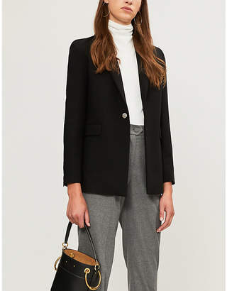 Maje Vlina single-breasted woven blazer