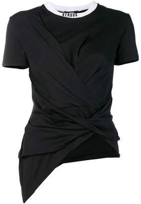 Versus asymmetric ruched T-shirt