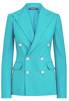 Ralph Lauren Women's Camden Double Breasted Cashmere Blazer Jacket