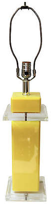 One Kings Lane Vintage Mid-Century Canary Yellow Lucite Lamp - Reclaimed Collection