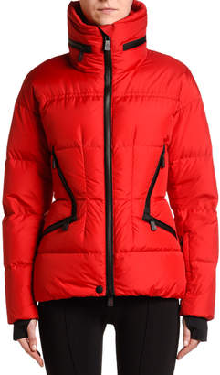 Moncler Stand-Collar Puffer Coat w/ Tucked Hood