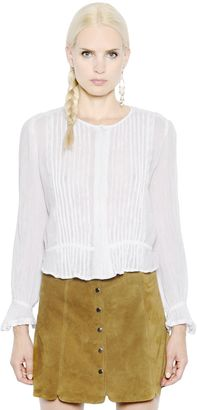Cropped Cotton Poplin Shirt $210 thestylecure.com