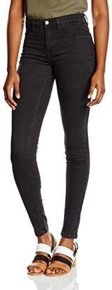 Selected Women's Sfgaia HR 1 JNS Jegging-Black Wash Noos Jeans