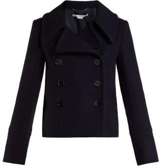 Stella McCartney Double Breasted Wool Overcoat - Womens - Navy