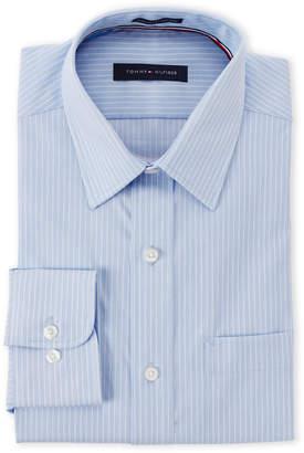 Tommy Hilfiger Soft Blue Striped Regular Fit Shirt