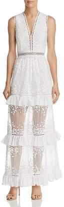 Aqua Vine Embroidered Maxi Dress - 100% Exclusive