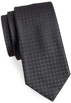 Calvin Klein Plaid Silk Tie