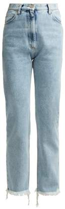 Natasha Zinko High Rise Light Wash Jeans - Womens - Denim