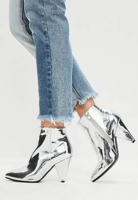 Missguided Cone Heel Ankle Boots