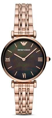 Emporio Armani Rose Gold-Tone Stainless Steel Watch, 32mm