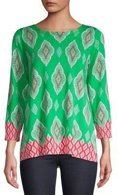 Joseph A Printed Long-Sleeve Pullover