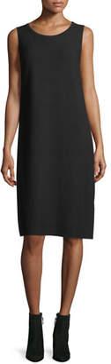 Lafayette 148 New York Matte Crepe Sweater Dress w/Links Stitching, Plus Size