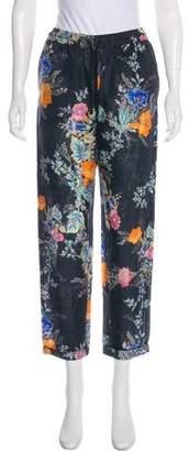 Tara Jarmon Silk Mid-Rise Pants