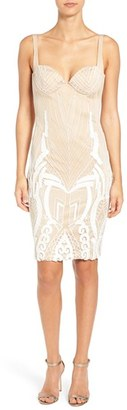 Women's Katie May 'Cara' Backless Ribbon Lace Embroidered Tulle Sheath Dress $630 thestylecure.com