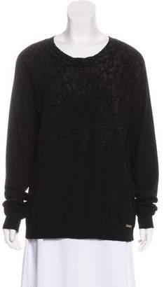 Just Cavalli Animal Print Wool Sweater