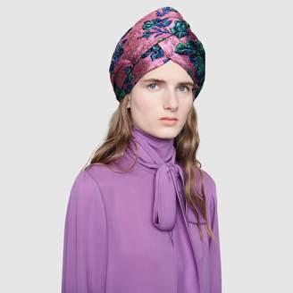 Floral brocade headband