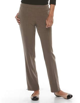 Croft & Barrow Women's Straight-Fit Polished Pull-On Pants