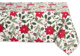 """Design Imports Formal Rectangle Woodland Christmas Kitchen Tablecloth, 84"""" x 60"""", 100% Cotton, Multiple Sizes"""