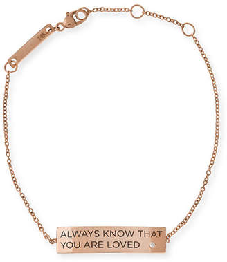 Chicco Zoe Always Know That You Are Loved 14K Gold ID Bracelet with Diamond