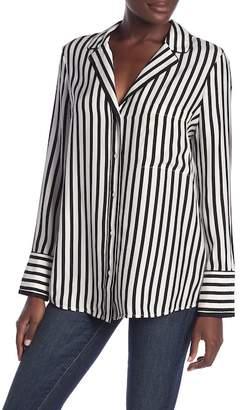 Frame Striped Silk PJ Blouse