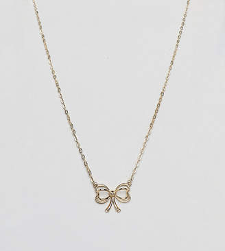 Ted Baker Gold Bow Pendant Necklace