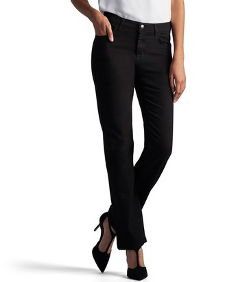 Lee Petite Relaxed Straight-Leg Mid-Rise Jeans