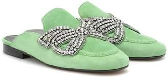 Isabel Marant Foyle embellished suede slippers