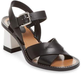 Jil Sander Block Heel Leather Sandal