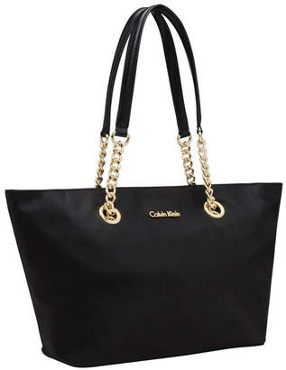 Calvin Klein Nylon Tote Black/Gold 2dx