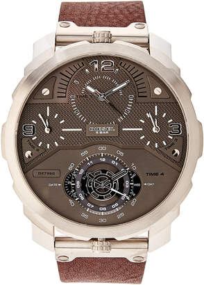 Diesel DZ7360 Silver-Tone & Brown Watch
