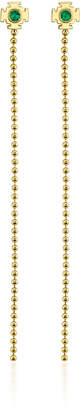 Ark 18K Gold Emerald Earrings