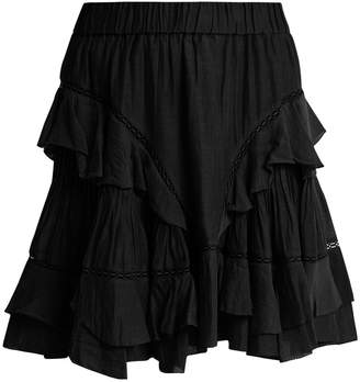 Etoile Isabel Marant Varese ruffled cotton-blend mini skirt