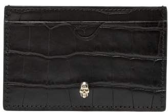 Alexander McQueen Micro Skull Leather Cardholder - Mens - Black