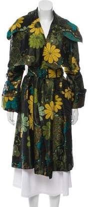 Burberry Floral Long Coat
