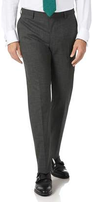 Grey Slim Fit Merino Business Suit Trousers Size W30 L38