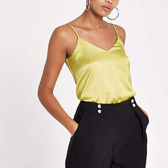 River Island Yellow cross back strap cami top