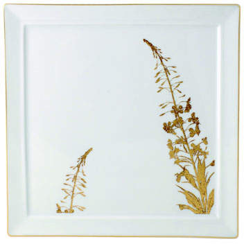 Bernardaud Bernardaud Vegetal Gold Square Plate
