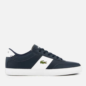 11f1f43f73 Lacoste Men's Court-Master 119 2 Perforated Leather Trainers - Navy/White