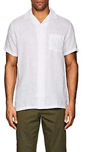 Onia Men's Vacation Linen Short-Sleeve Shirt - White