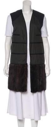 Marni Fur-Trimmed Lightweight Vest