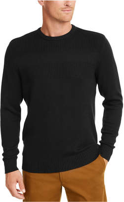 Club Room Men Cotton Solid Textured Crew Neck Sweater