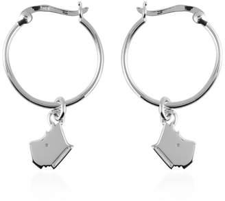 Radley Silver 'Love Radley' Dog Charm Hoop Earrings